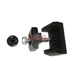 Univerzálna príchytka samorezná 50x26 mm čierna