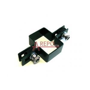 Priebežná objímka 60 x 40 mm ZN + RAL6005
