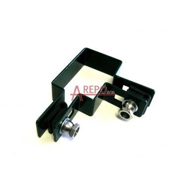 Rohová objímka 60 x 40 mm ZN + RAL6005